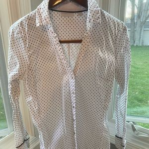 Dotted button down shirt